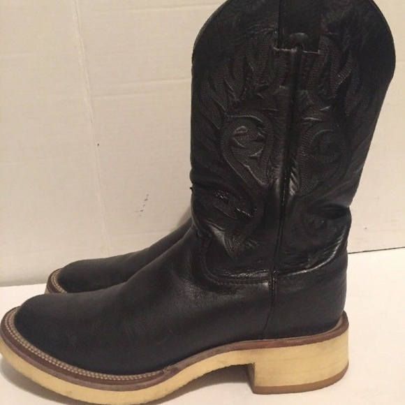 3890b01702e Justin Western Boots Womens Leather A4535 6.5B